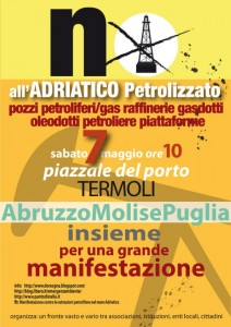 contro le trivellazioni petrolifere