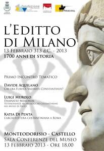 editto di Milano vasto