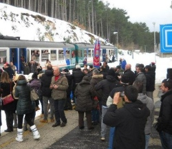 manifestazione a Rivisondoli per la transiberiana d italia