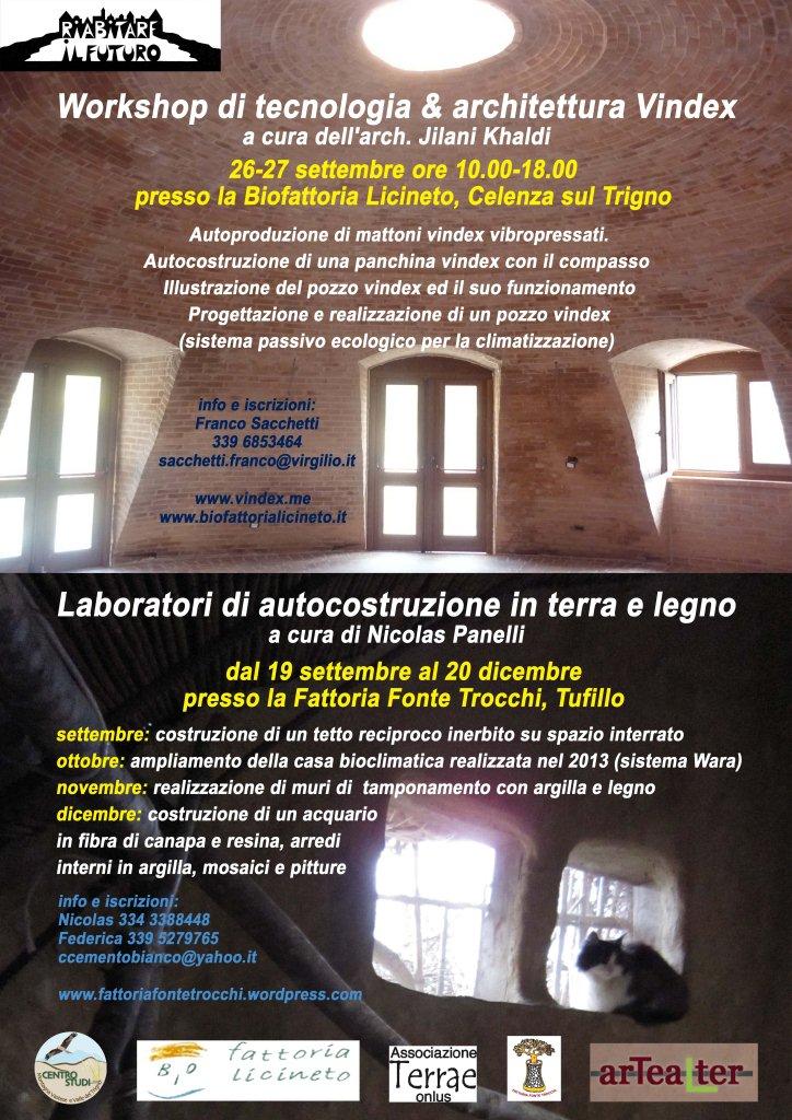 Workshop e laboratori di autocostruzione a tufillo e for Programma di architettura