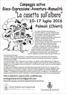 Campo estivo Palmoli, 10-17 luglio 2016, Casa sull'albero