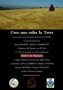 C'era una volta la terra. documentario a Schiavi di Abruzzo
